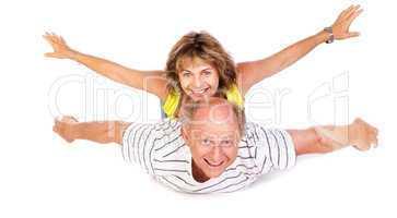 Senior couple having fun, indoors