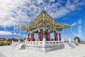 Korean Bell of Friendship pagoda in San Pedro