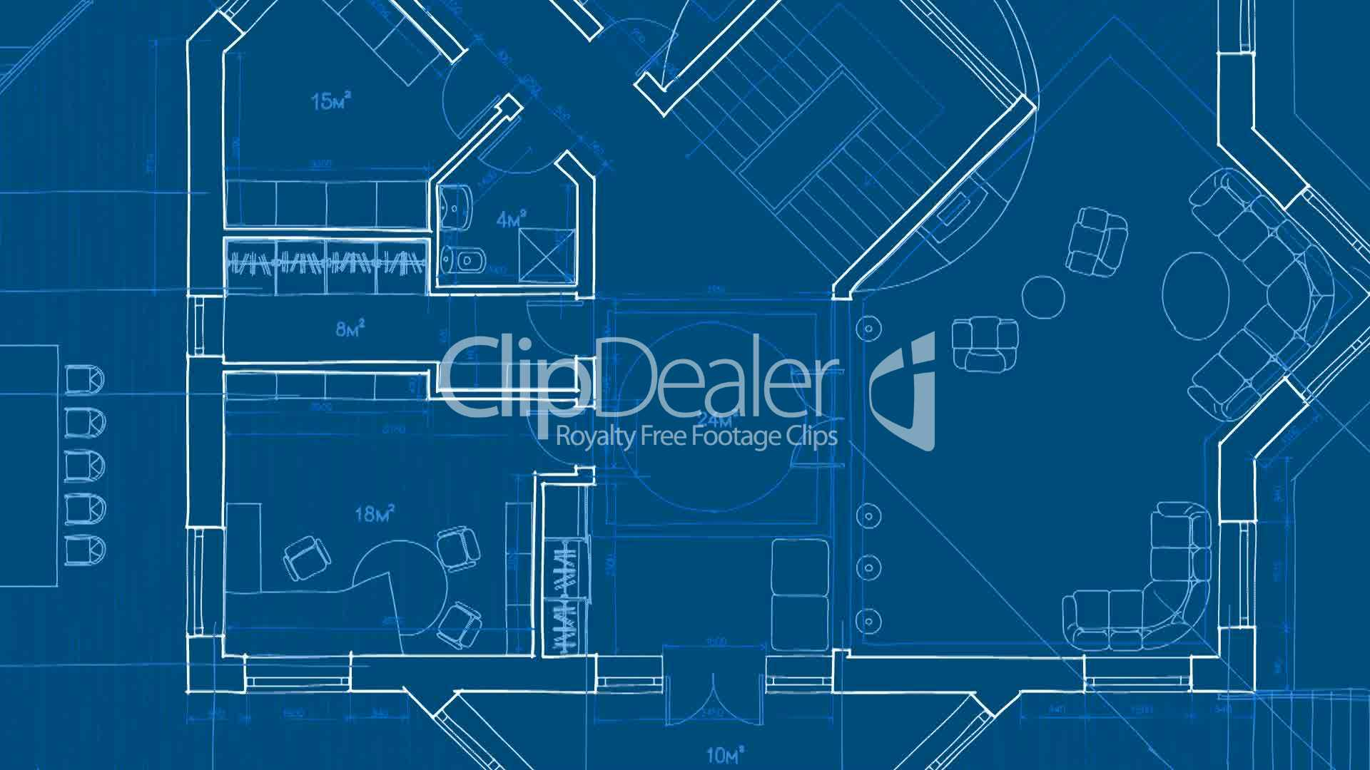 Architecture blueprint royalty free video and stock footage clips architecture blueprint malvernweather Image collections