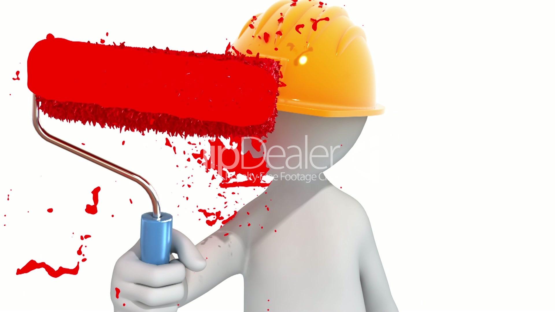 Worker Paints The Screen Lizenzfreie Stock Videos Und Clips