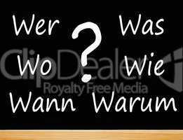 Die 6 W-Fragen