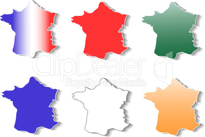 form of France stickers set