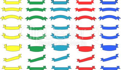 colorful ribbons set