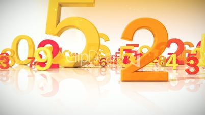 Moving colored numbers HD