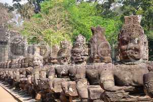 Giant buddha statue at Angkor, Cambodia