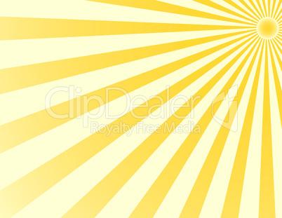 Hintergrund mit Sonnenstrahlen