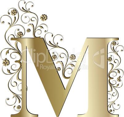 Verzierter Buchstabe M