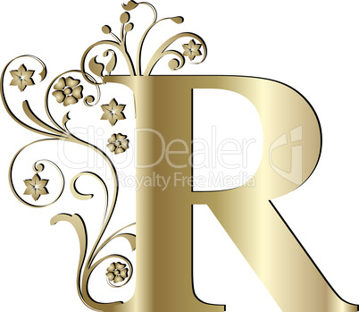 Verzierter Buchstabe R