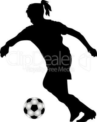 Fußballspielerin Silhouette