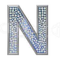 Diamant Buchstabe N
