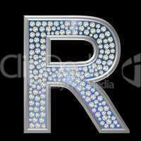 Diamant Buchstabe R