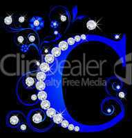 Großbuchstabe C blau