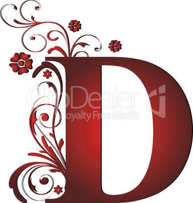 Verzierter Buchstabe D
