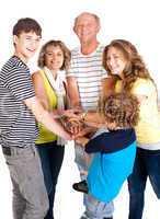 United family of five, great bonding