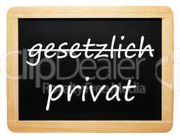 gesetzlich und privat