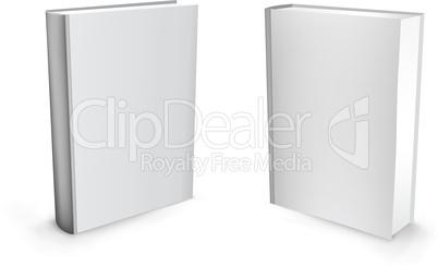3d vector white books