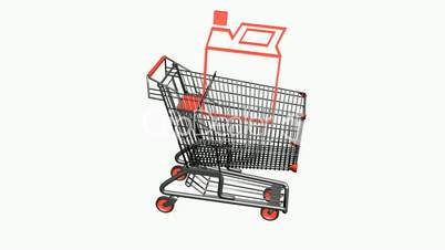 Shopping Cart and Gasoline.retail,buy,cart,shop,basket,sale,customer,supermarket,market,