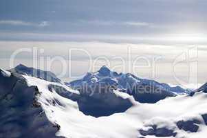 Caucasus Mountains. View from Elbrus.