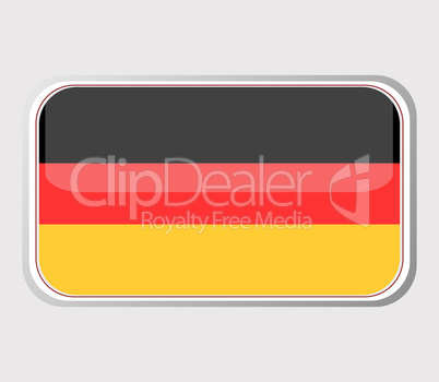 Flag of germany in the form