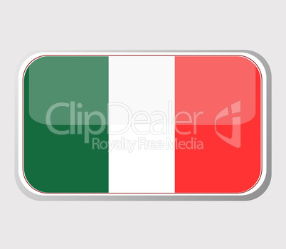 Flag of Italy in the form