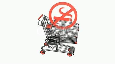 Shopping Cart and No Smoking.retail,buy,cart,shop,basket,sale,customer,supermarket,