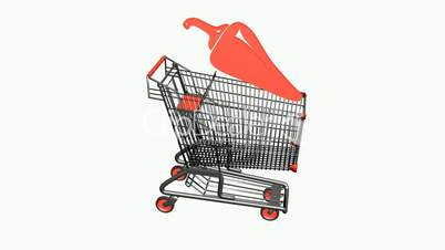 Shopping Cart and pepper.retail,buy,cart,shop,basket,sale,supermarket,market,