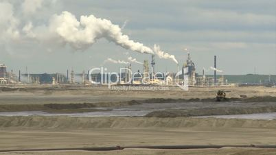 Oil Sands processing plant and tailing pond