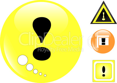 Yellow Warning Sign set, Vector