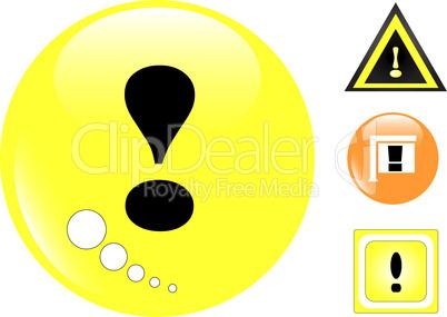 Yellow Warning Sign set, Vector