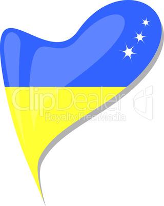 ukraine in heart. Icon of ukraine national flag. vector