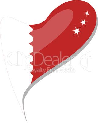 bahrain flag button heart shape. vector