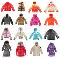 Sixteen winter jackets