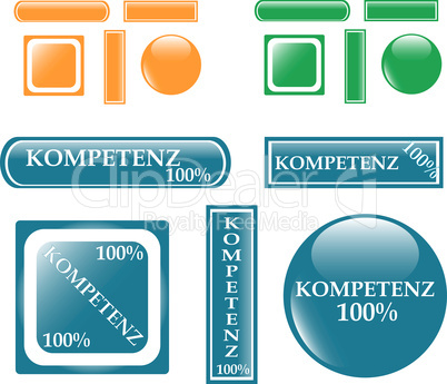 100% competence Button set