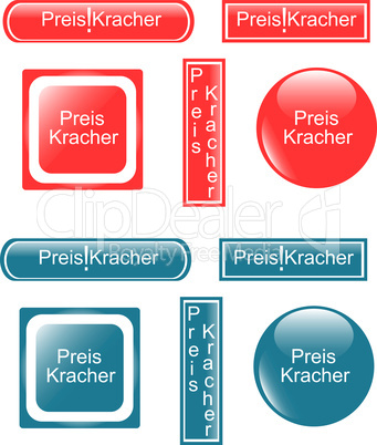 web button preiskracher set