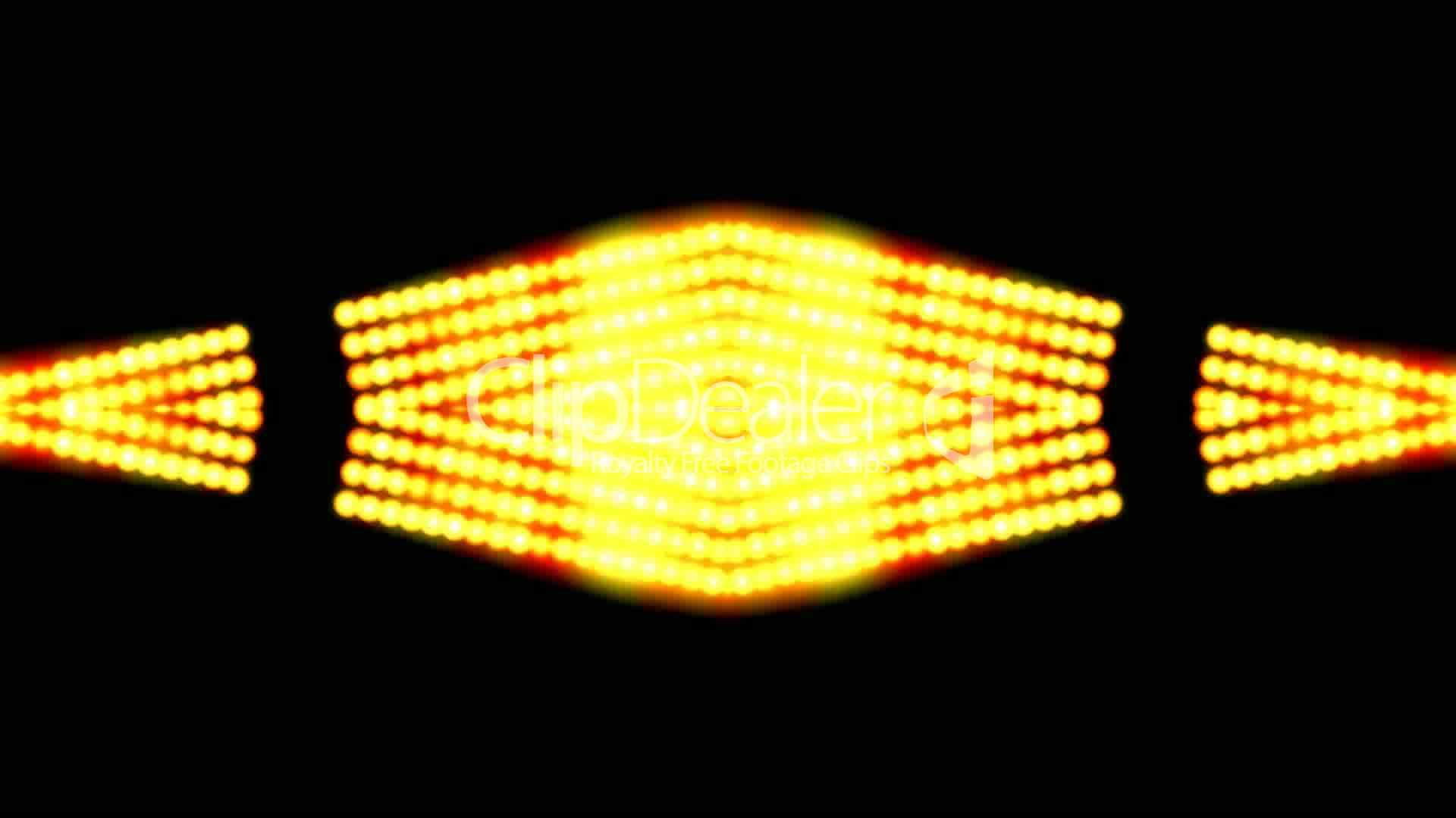 flare golden beads shaped neon light sunlight stage