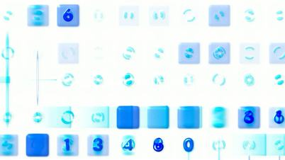 3d blue plastic figure and square,stock ticker,finance number background.Mathematics,computing,science,probability,accounting,trends,virtualization,performance,competition,computer,thought,stocks,Wall Street,the Dow Jones Index,Design,dream,vision,idea,cr