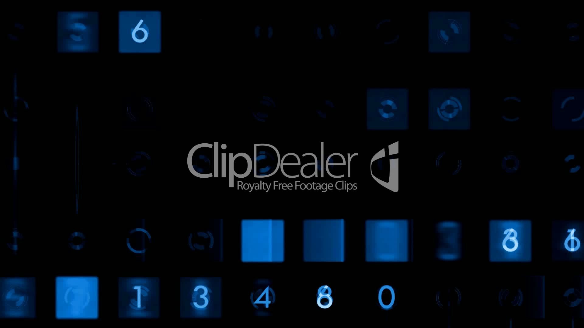 Blue Figure And Squarestock Tickerbusiness Number Background