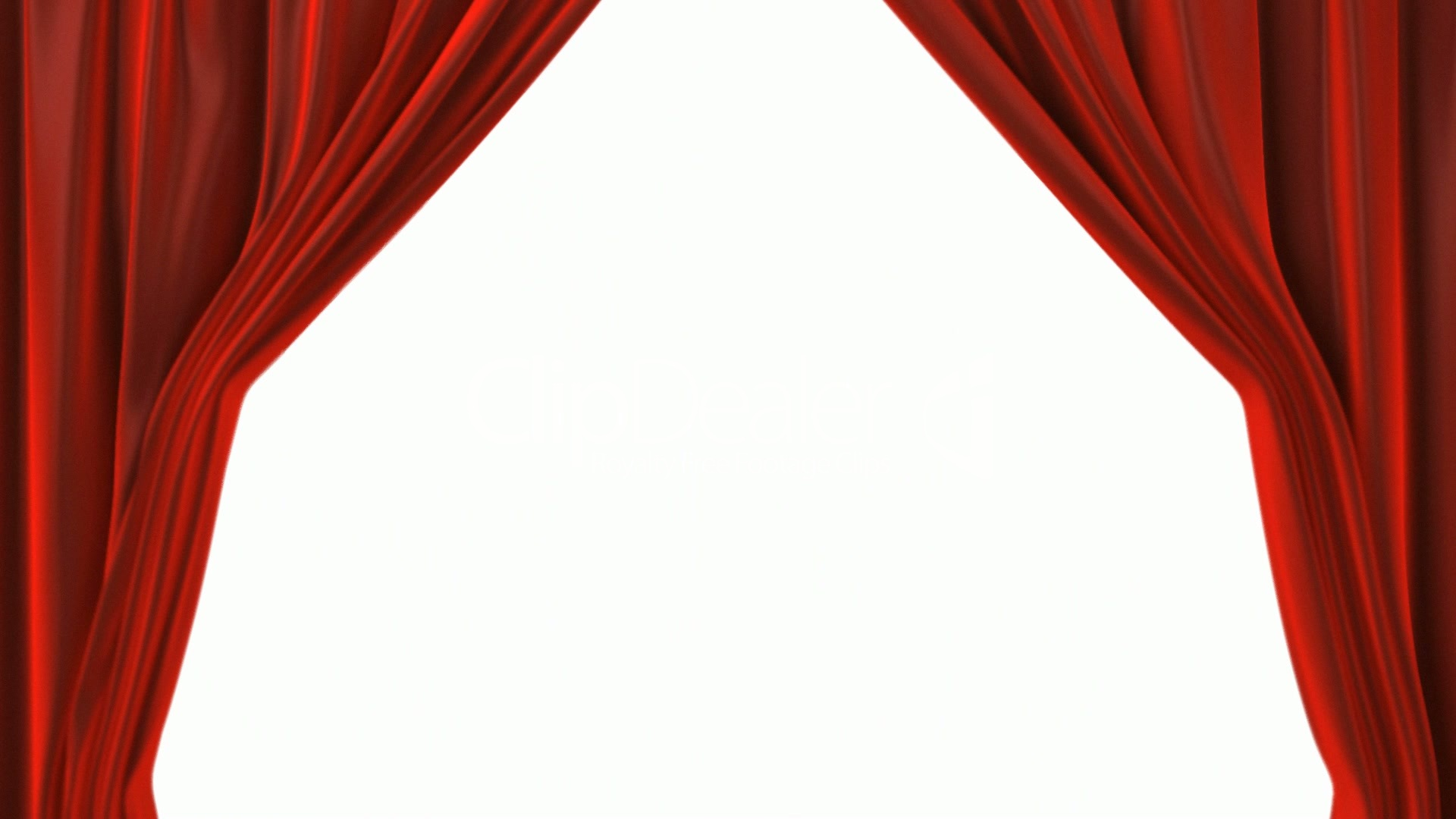 Opening Red Theatre Velvet Curtains The Alpha Channel Is