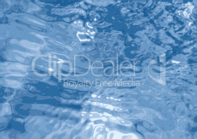Blue rippled water background