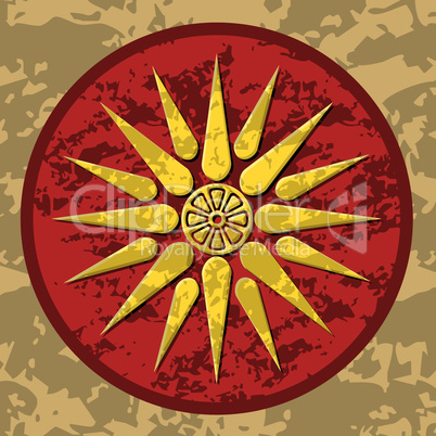 Macedonia symbol color