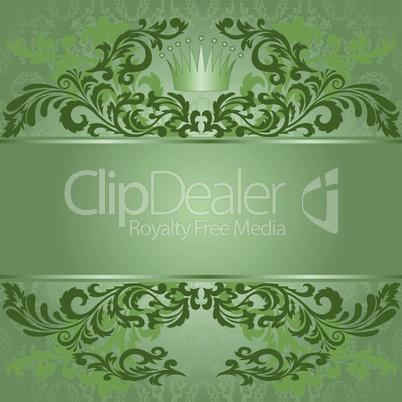 Green vintage background.eps
