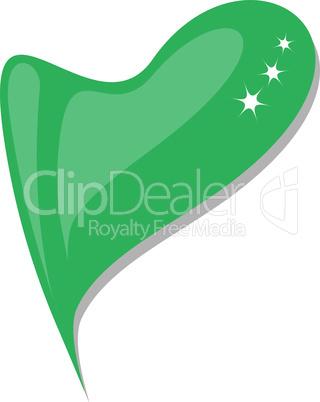 lebanon in heart. Icon of lebanon national flag. vector