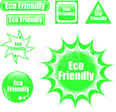 green eco friendly label web button