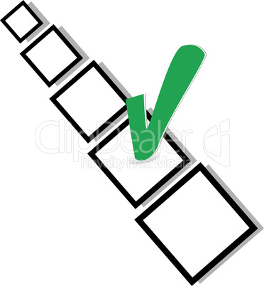 check list symbol with green TICK sign isolated