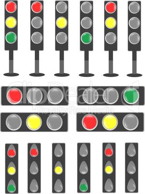 Traffic light & status bar semaphore set sign