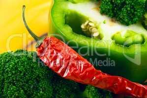 pepper and broccoli