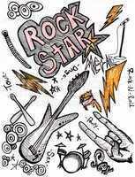 rockstar hand drawing doodles