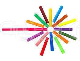 Multi-colored felt-tip pens