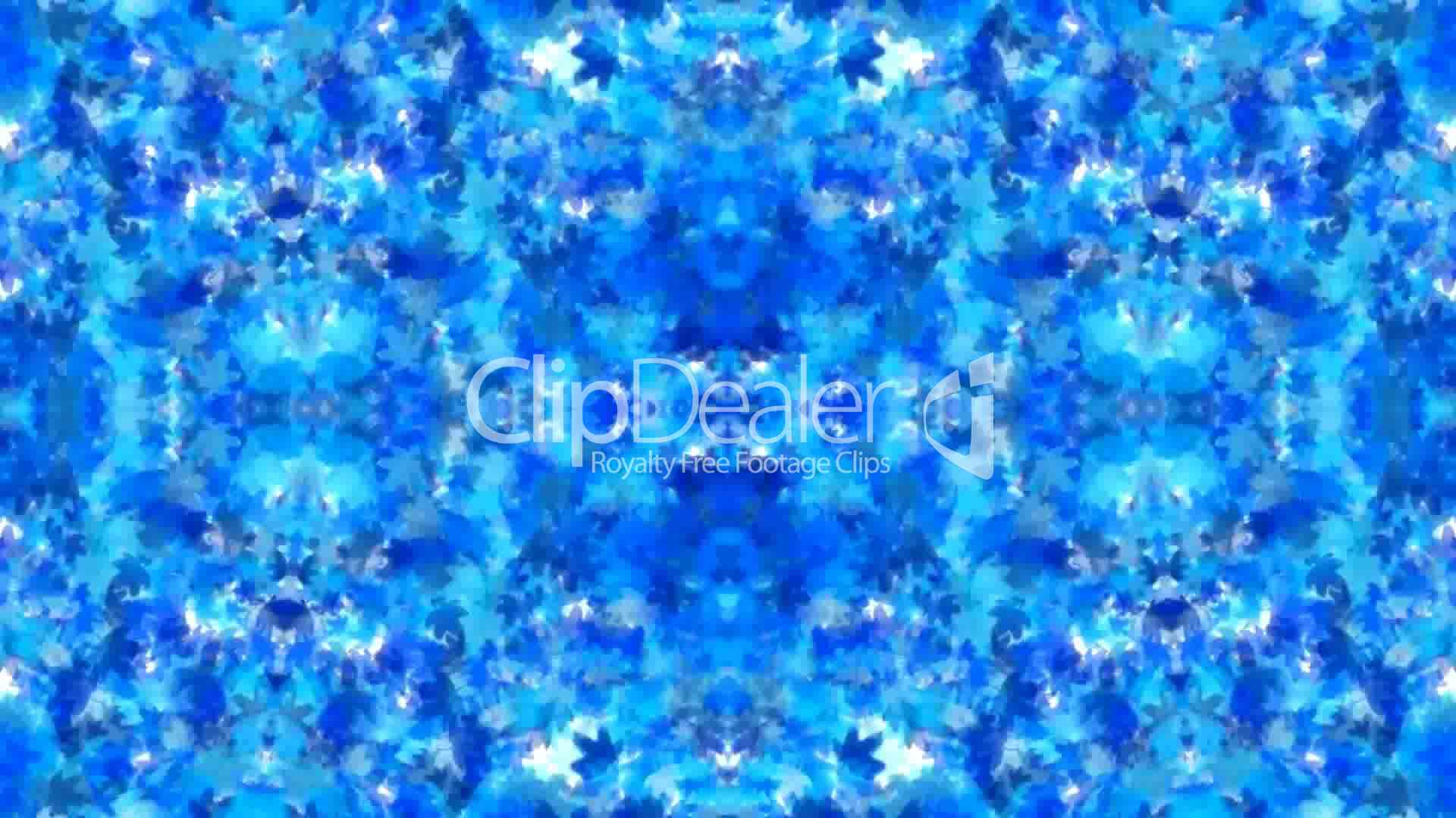 Blue Maple Leafs Shaped Fancy Flower Pattern Wedding