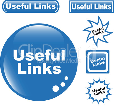 Useful Links button web glossy icon